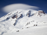Mount Rainier with Lenticular Cloud over Summit, Mount Rainier National Park, Washington, Usa Photographic Print by Jamie &amp; Judy Wild