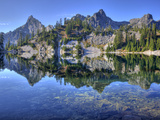 Chair Peak and Mount Roosevelt, Gem Lake, Alpine Lakes Wilderness, Washington, Usa Photographic Print by Jamie & Judy Wild