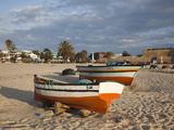Kasbah Fort and Fishing Boats, Hammamet, Cap Bon, Tunisia Photographic Print by Walter Bibikow