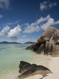 Anse Source D'Agent, Popular White Sand Beach, Island of La Digue, Seychelles Fotografisk tryk af Cindy Miller Hopkins