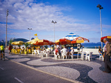 People Enjoying a Meal Near Copacabana Beach, Rio De Janeiro, Brazil Photographic Print by Tom Haseltine