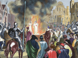 Burning Templar in the 14th Century (1851) Photographic Print by  Prisma Archivo