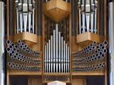 Pipe Organ, Hallgrimskirkja, Main Lutheran Church, Reykjavik, Iceland Photographic Print by Adam Jones