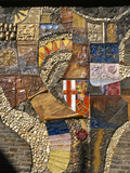 Mosaic That Tells the History of the City, Cochem, Rhineland-Palatinate, Germany Photographic Print by Tom Haseltine