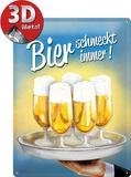 Bier schmeckt immer Tablett Cartel de chapa