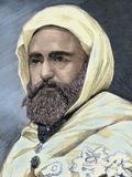 Abd Al-Qadir B Muhyi Al-Din Al-Hasani (Abdelkader) (1808-1883). Algerian Leader Photographic Print by  Prisma Archivo