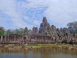 Bayon Temple in Siem Reap, Cambodia Photographic Print by Bill Bachmann