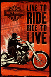 Harley Davidson - Live to Ride Posters