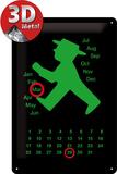 Ampelmann grün Kalender Plaque en métal