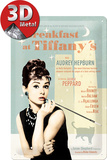 Breakfast at Tiffanys Blue Blikskilt