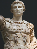 Augustus (61 Bc-14 Ad). First Roman Emperor, Marble Statue of Augustus of Prima Porta (1st Century) Photographic Print by  Prisma Archivo
