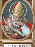 St. Augustine (354-430). African Bishop, Doctor and Father of the Church Fotografisk tryk af Prisma Archivo