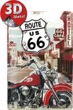 Route 66 Lone Rider Plaque en métal