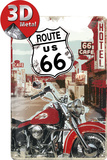 Route 66 Lone Rider Tin Sign