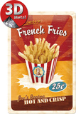 French Fries Carteles metálicos