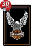 Harley-Davidson Eagle Logo Plaque en métal