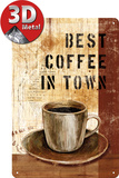 Best Coffee in Town Cartel de chapa