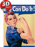We can do it Cartel de chapa