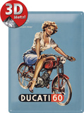 Ducati Pin up Plaque en m&#233;tal