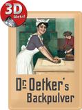 Dr. Oetker Bäckerin Plaque en métal