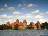 Island Castle on Lake Galve, Trakai Historical National Park, Trakai, Lithuania Photographic Print by Walter Bibikow