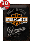 Harley-Davidson Genuine Logo Tin Sign