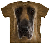 Great Dane Face T-shirts