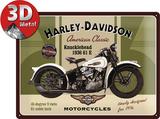 Harley-Davidson Knucklehead - Metal Tabela