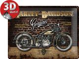 Harley-Davidson Brick Wall - Metal Tabela
