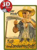 Wer Bier trinkt hilft der Landwirtschaft Plaque en métal