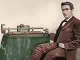 Thomas Alva Edison (1847-1931). American Inventor Photographic Print by  Prisma Archivo