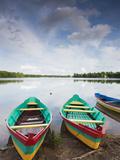 Lake Luka, Trakai Historical National Park, Trakai, Lithuania Photographic Print by Walter Bibikow