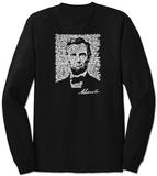 Long Sleeve: Lincoln - Gettysburg Address Lange ermer
