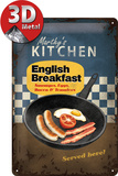 English Breakfast Tin Sign