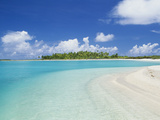 Beach, Rangiroa, French Polynesia Photographic Print by Douglas Peebles