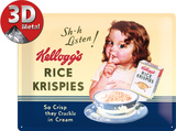 Kellogg&#39;s Sh-h Listen! Blechschild