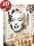 Marilyn Monroe Portrait-Collage Plaque en m&#233;tal