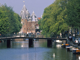 Kloveniers Burgwal Canal, the Waag, Amsterdam, North Holland, the Netherlands Photographic Print by Tom Haseltine