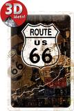 Route 66 Rost-Kollage Blikskilt
