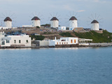 Windmills, Horia, Mykonos, Greece Photographic Print by Darrell Gulin
