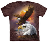Eagle &amp; Clouds Tshirts