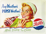 Pepsi Weather Cartel de chapa