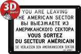 You are leaving... Plaque en métal