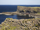 Polygonal Basalt, Staffa, Off Isle of Mull, Scotland Photographic Print by David Wall