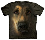 German Shepherd Portrait T-shirts
