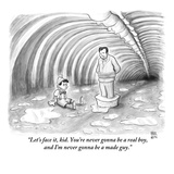"""Let's face it, kid. You're never gonna be a real boy, and I'm never gonna…"" - New Yorker Cartoon Premium Giclee Print by Paul Noth"