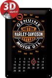 Harley-Davidson Kalender Motor Oil Plaque en métal