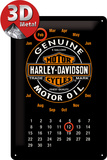 Harley-Davidson Kalender Motor Oil Tin Sign