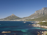 Camps Bay and Clifton Area, View of the Backside of Lion's Head, Cape Town, South Africa Fotografisk tryk af Cindy Miller Hopkins