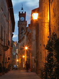 Twilight in Pienza, Tuscany, Italy Photographic Print by Adam Jones